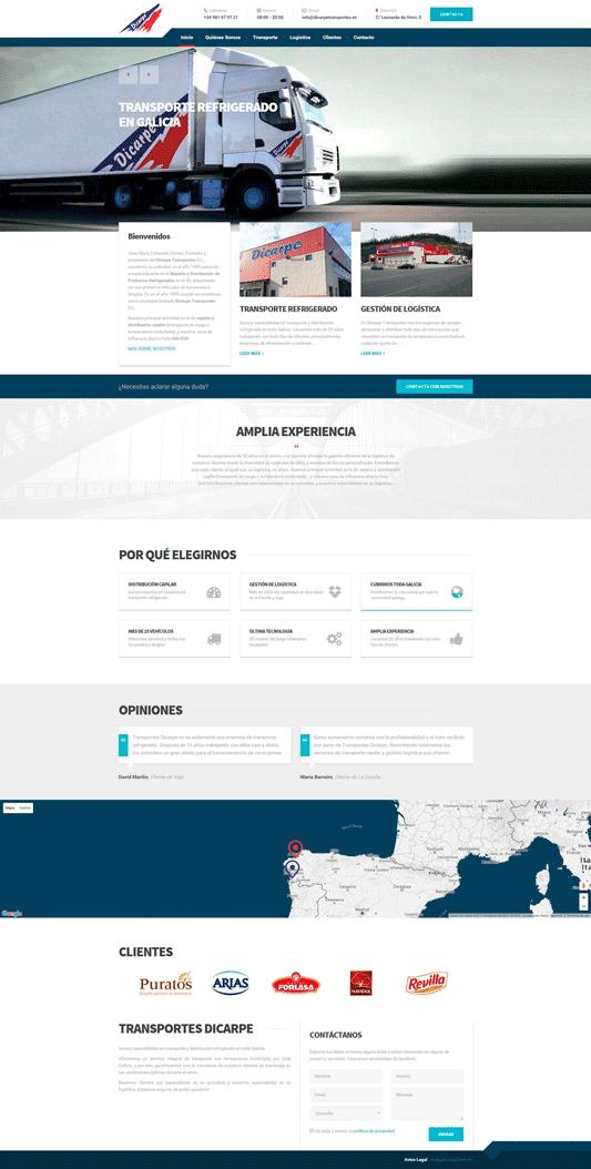 Diseño web pada Dicarpe