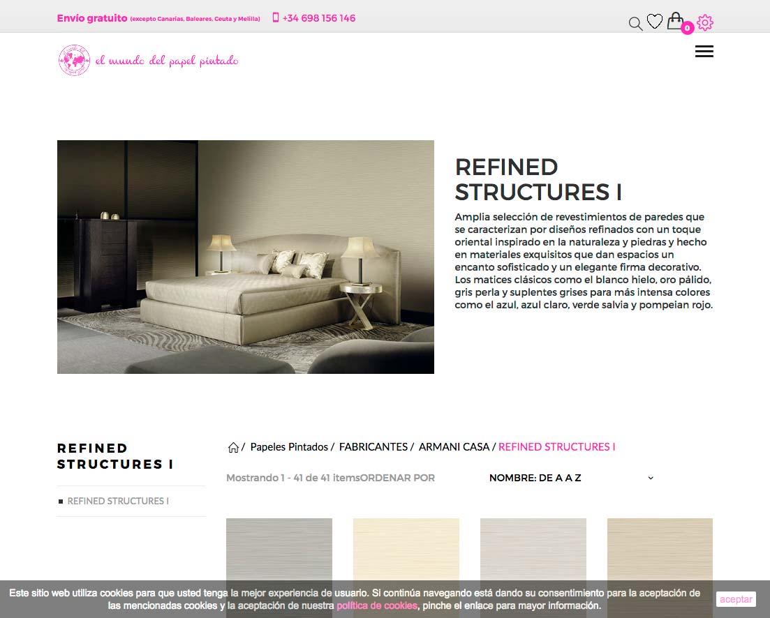Diseño de tienda online para Eurodivan.com