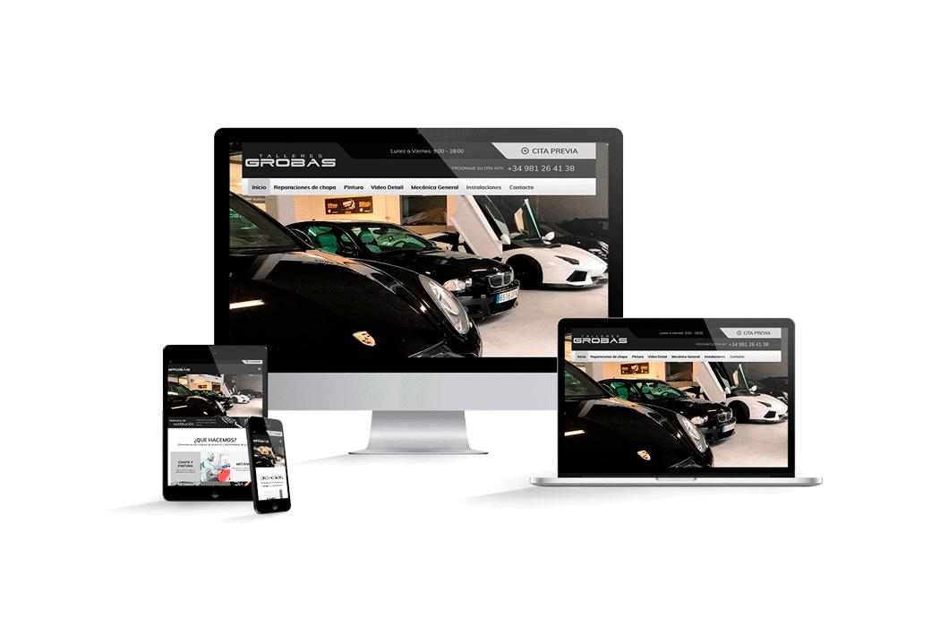 Pagina web talleres grobas